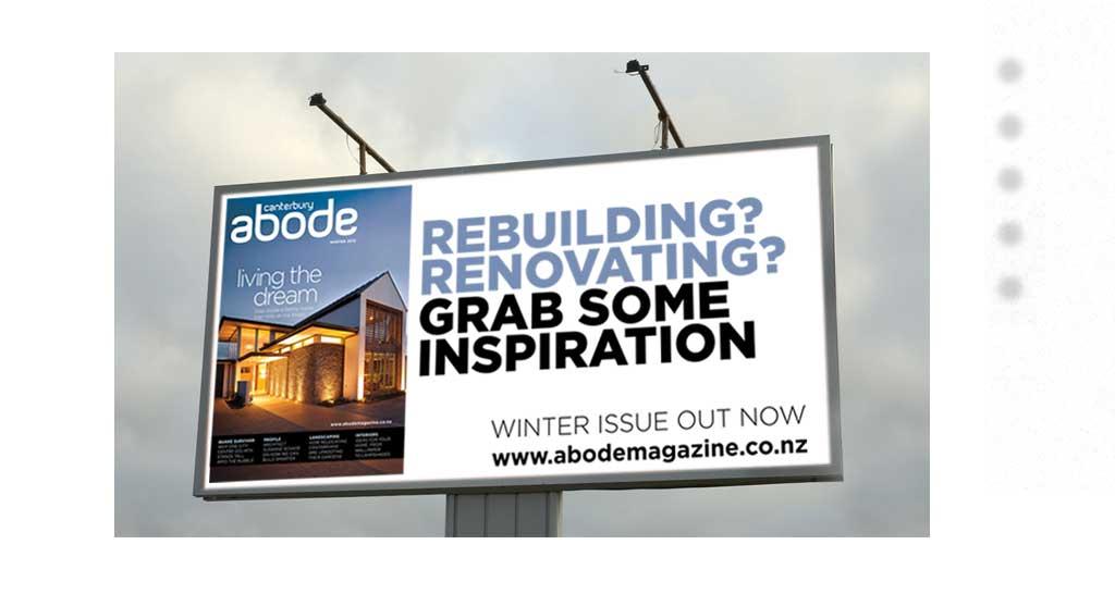 Billboard design Canterbury Christchurch New Zealand