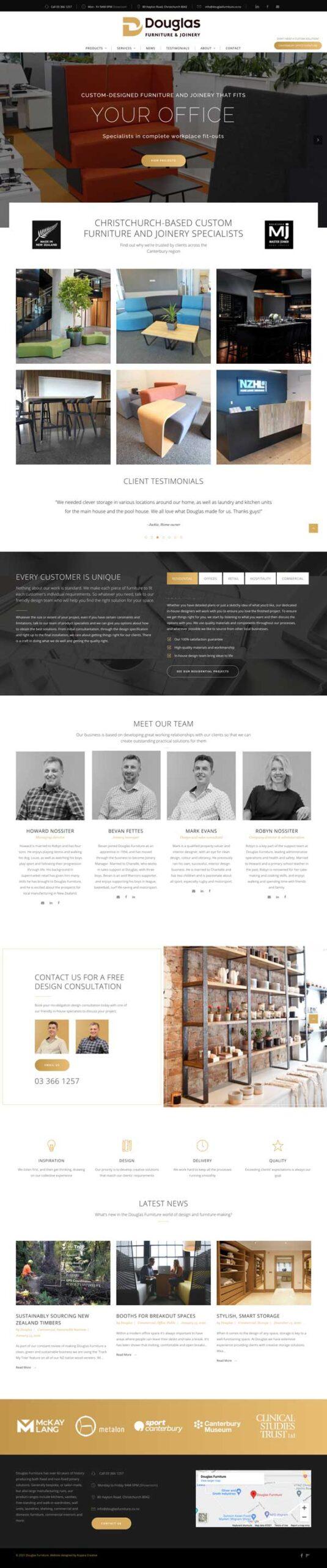 Douglas Furniture New website design and marketig