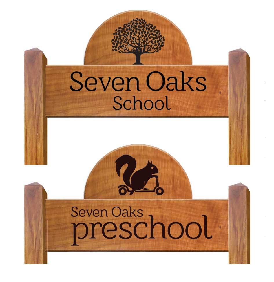 Seven Oaks School Signage