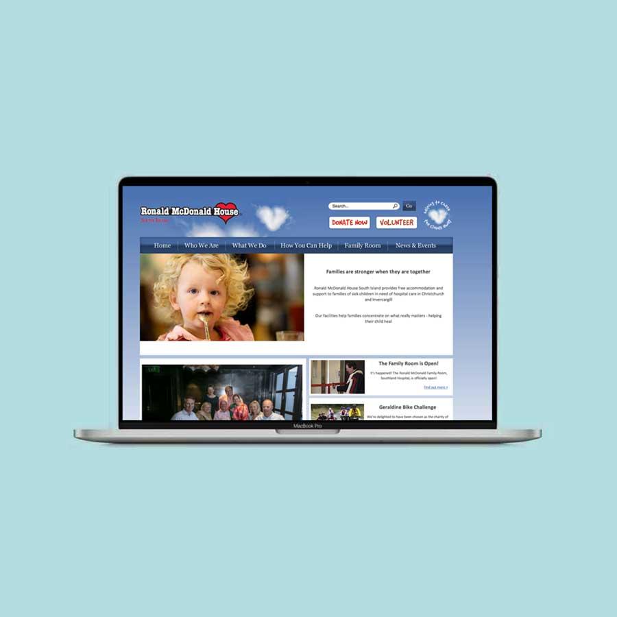 Ronald McDonald House South Island Website Design