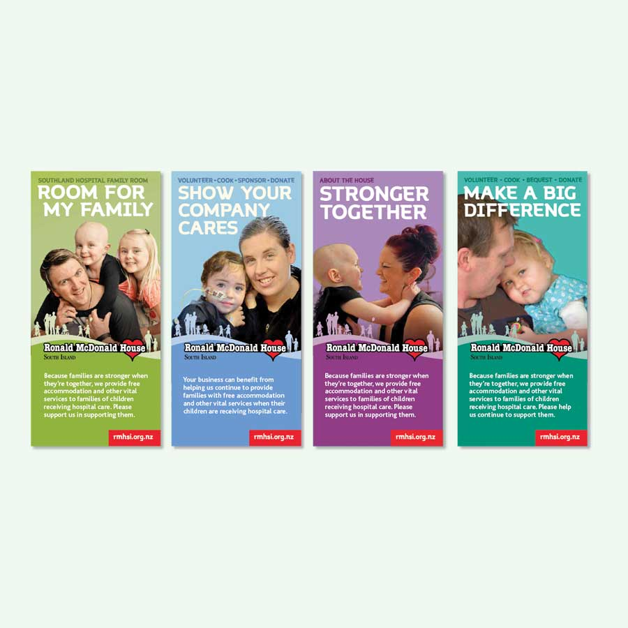 Series of leaflet designs for charity