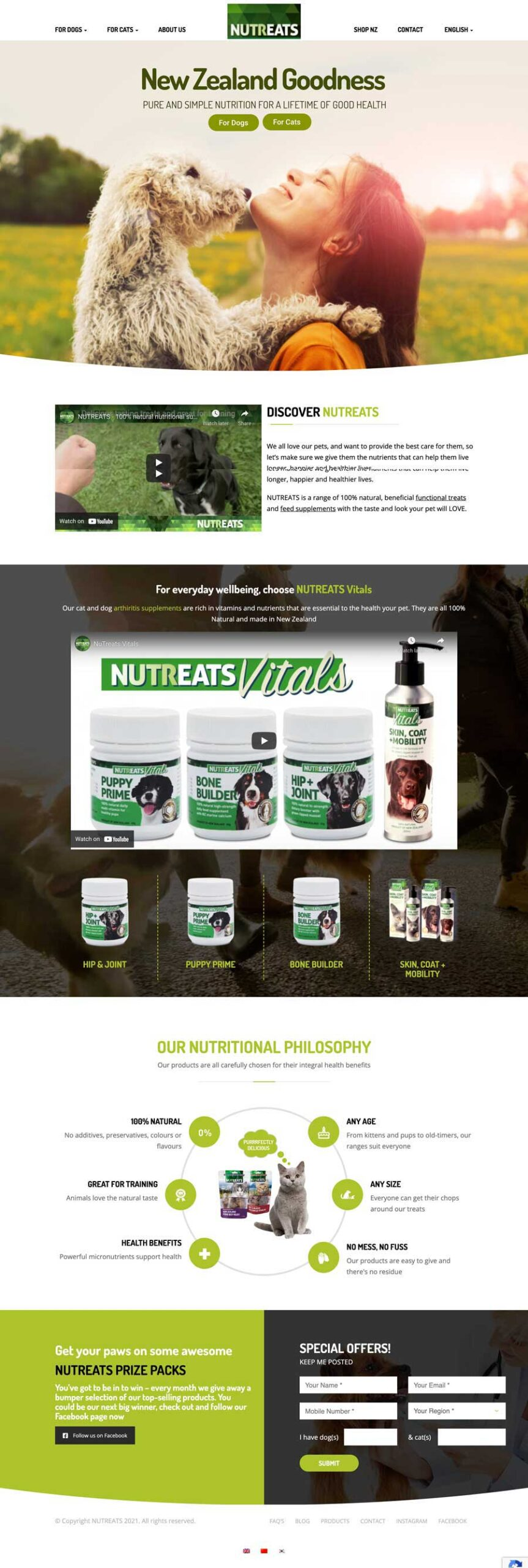 Nutreats Design Online shop ecommerce and SEO