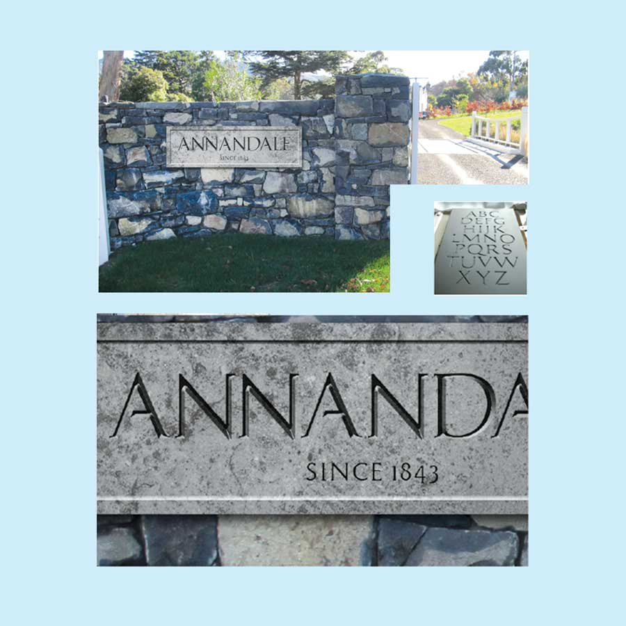 Annandale Luxury Lodge Signage