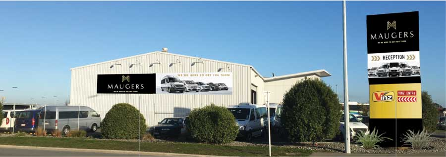 New signage for building exterior at Christchurch airport