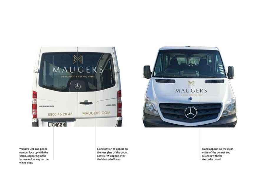 Vehicle graphics for van