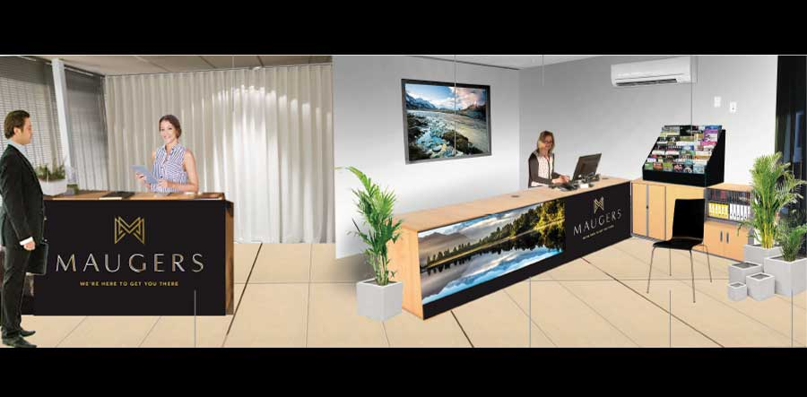 Maugers interior design of office reception