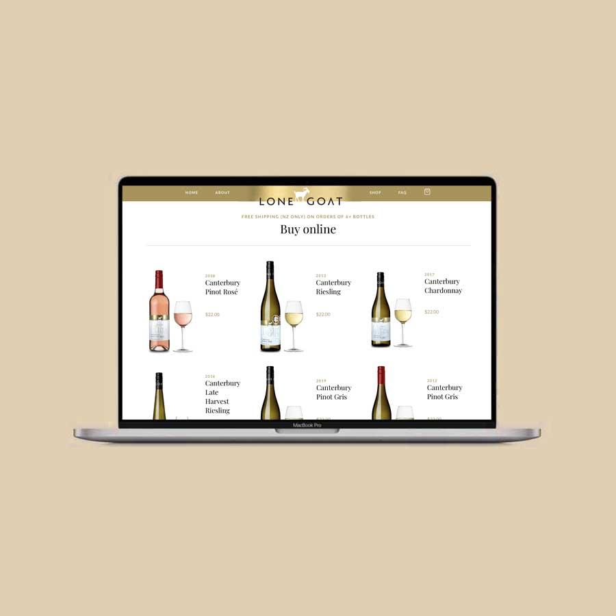 Lone Goat Vineward Website Design