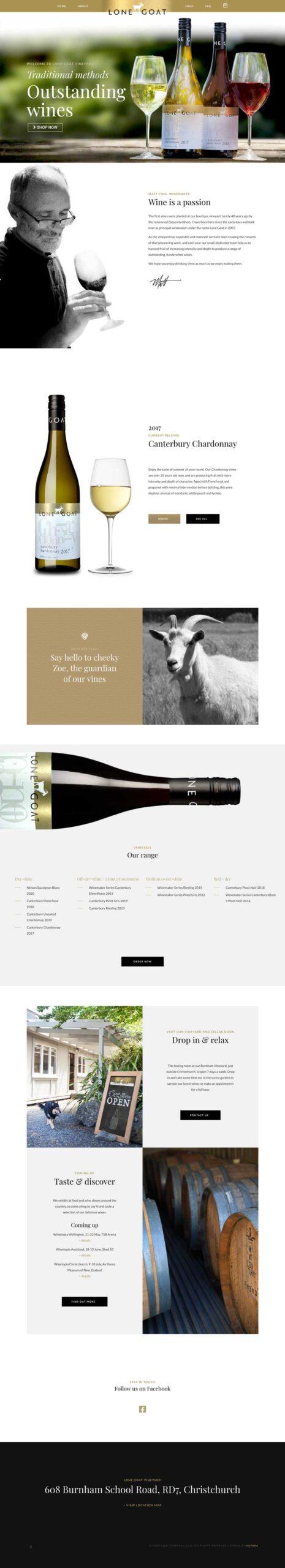 Lone Goat Vineyard Website Design and Marketing