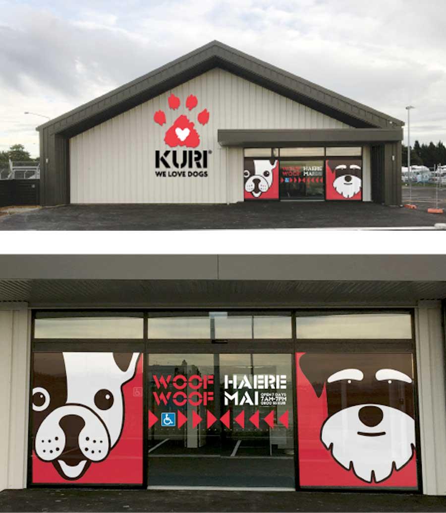 Kuri external signage design