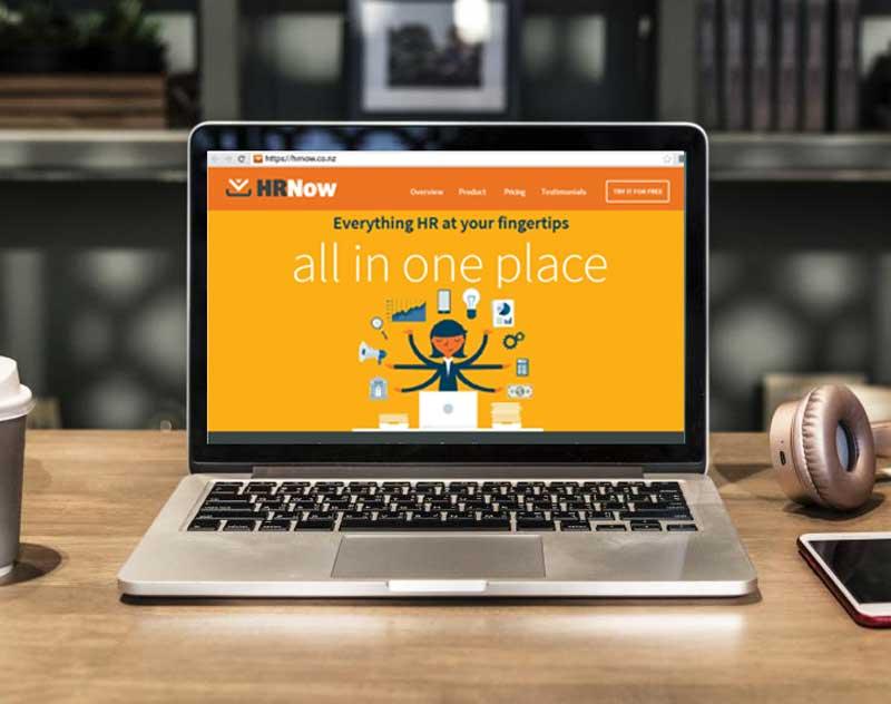 HR App design for landing page and website