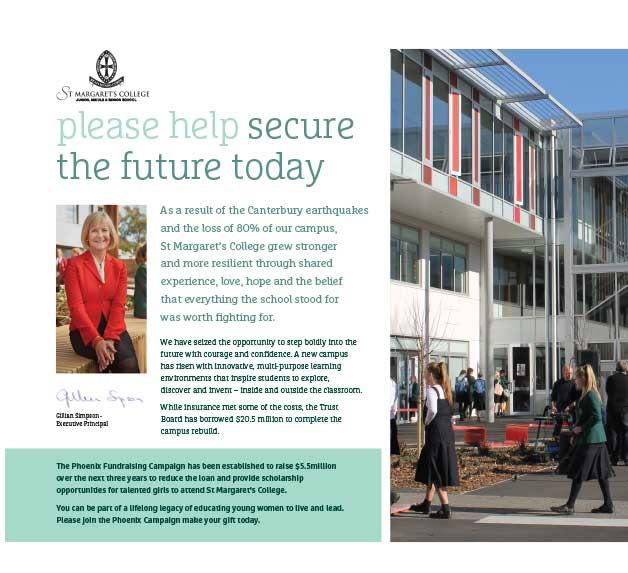 fundraising brochure design nz christchurch charity