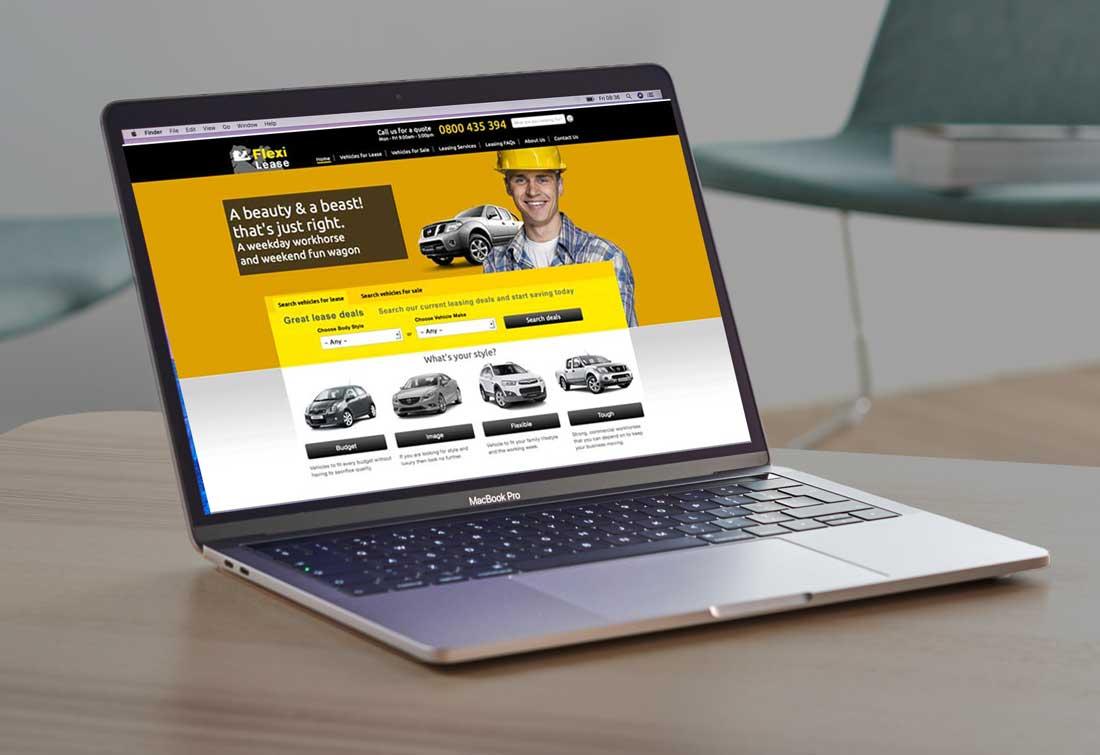FlexiLease new website design Christchurch nz